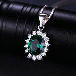 1.7ct Emerald Pendant - 925 Sterling Silver